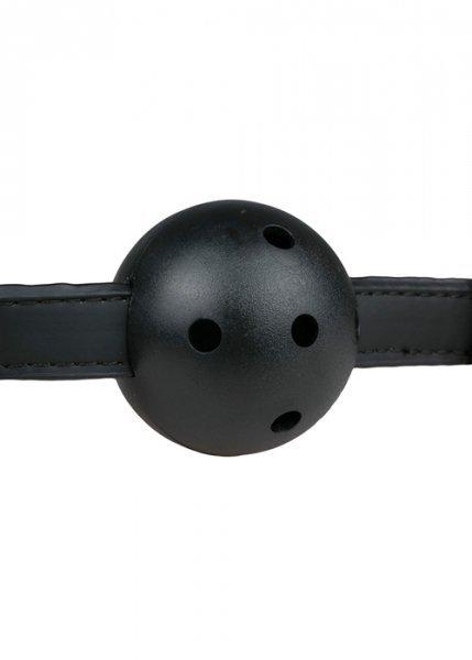 Knebel-Ball Gag With PVC Ball - Black