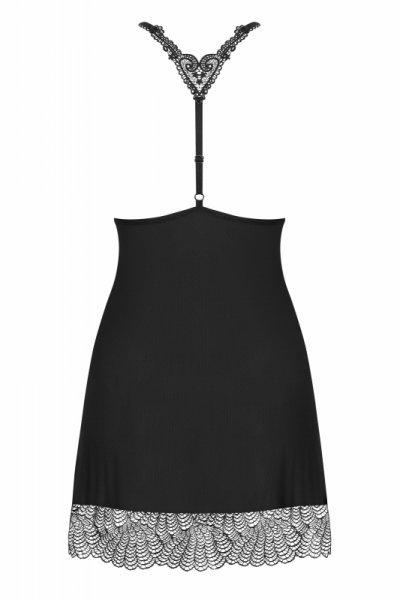 Chiccanta koszulka i stringi czarna L/XL