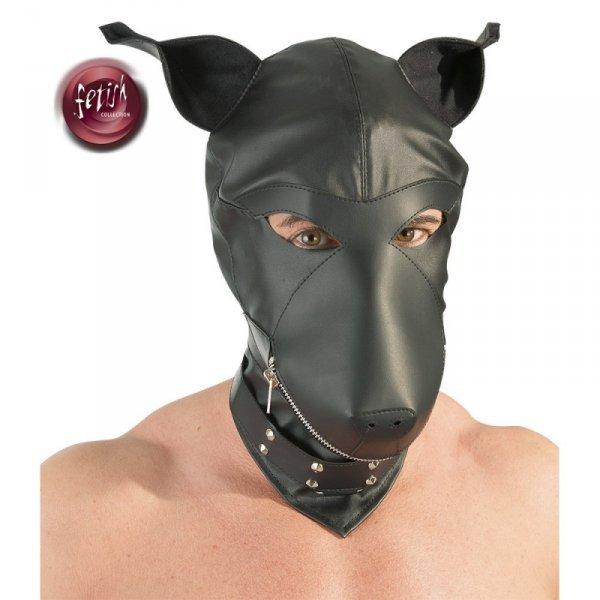 Maska psa imitacja skóry