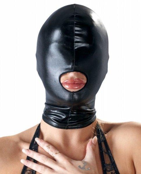 Maska czarna z otworem na usta Bad Kitty