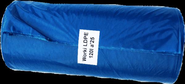 Worki na śmieci LDPE 120L 25szt. niebieskie EP
