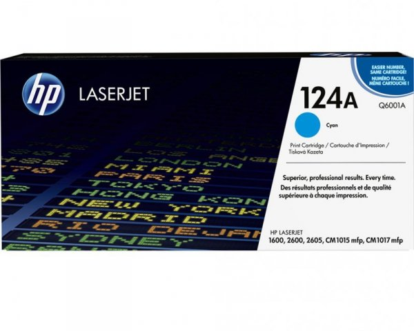 HP Toner nr 124A Q6001A Cyan 2K