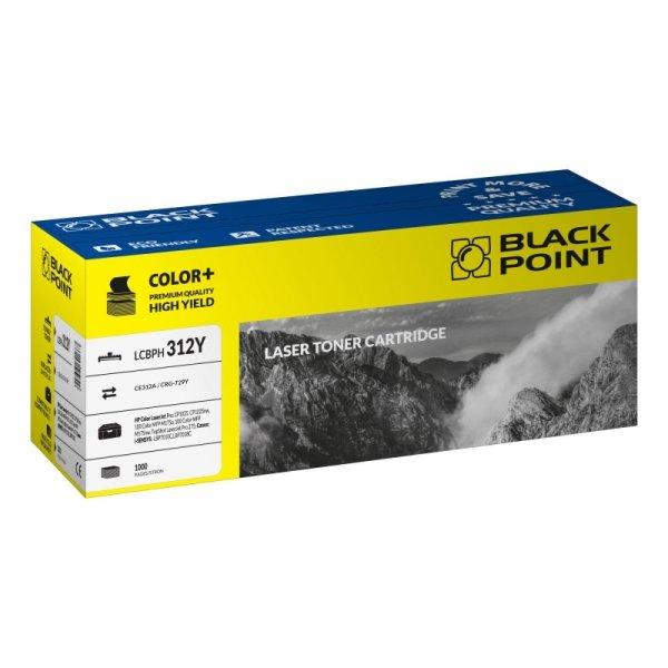 Black Point toner LCBPH312Y zastępuje HP CE312A / CRG-729Y, żółty