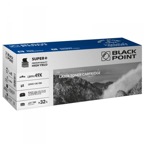 Black Point toner LBPPH49X zastępuje HP Q5949X / CRG-708H, 7900 stron
