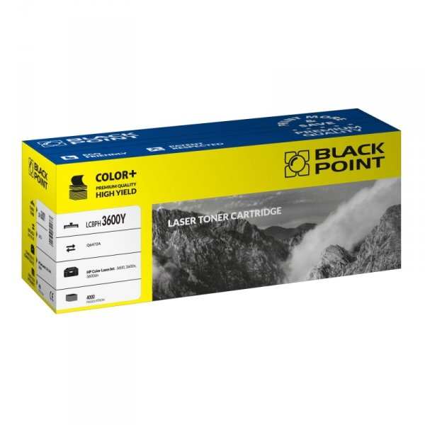 Black Point toner LCBPH3600Y zastępuje HP Q6472A, żółty
