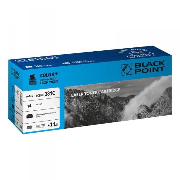 Black Point toner LCBPH381C zastępuje HP CF381A, niebieski