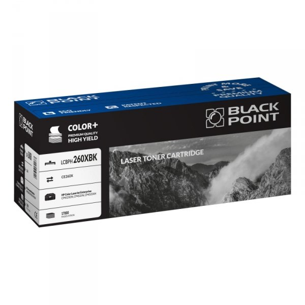Black Point toner LCBPH260XBK zastępuje HP CE260X, czarny
