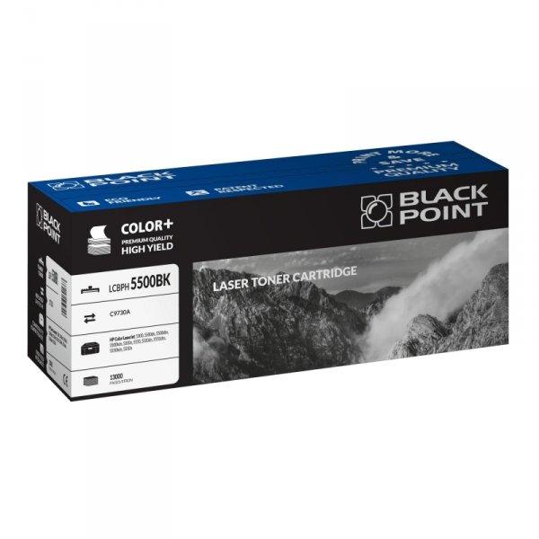 Black Point toner LCBPH5500BK zastępuje HP C9730A, czarny