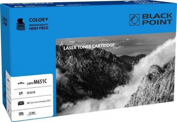 Black Point toner LCBPM651C zastępuje HP CF331A, niebieski