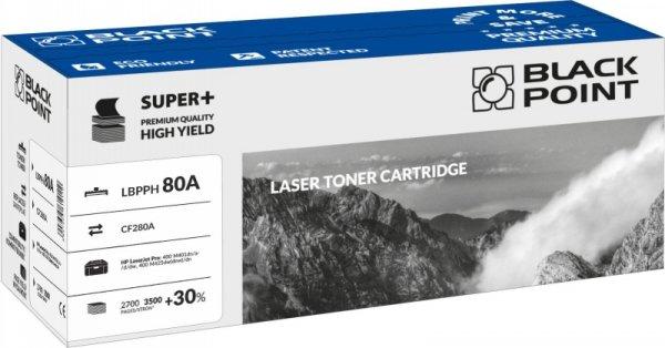 Black Point toner LBPPH80A zastępuje HP CF280A, 3500 stron