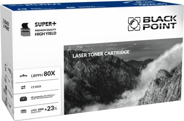 Black Point toner LBPPH80X zastępuje HP CF280X, 8500 stron