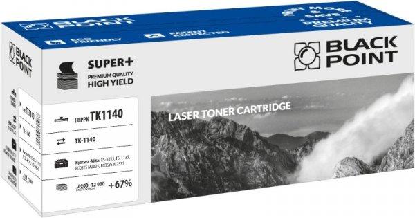 Black Point toner LBPPKTK1140 zastępuje Kyocera TK-1140, 12000 stron