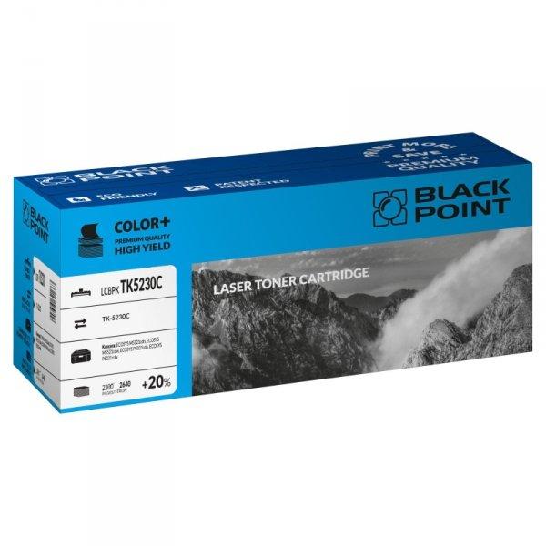 Black Point toner LCBPKTK5230C zastępuje Kyocera TK-5230C, cyan, 2640 str.