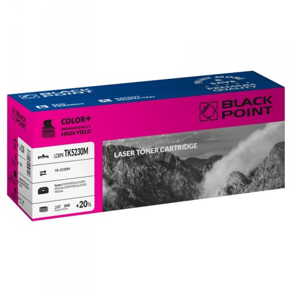 Black Point toner LCBPKTK5230M, zastępuje Kyocera TK-5230M, magenta, 2640 str.