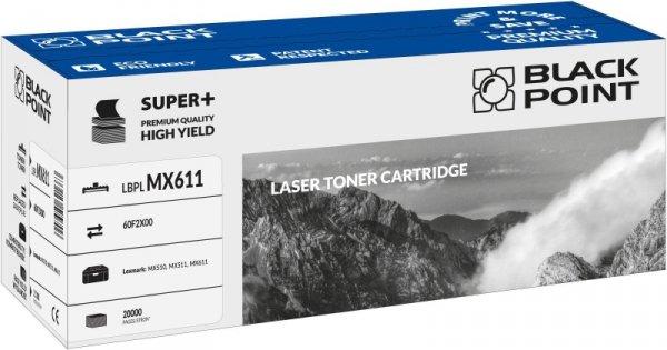 Black Point toner LBPLMX611 zastępuje Lexmark 60F2X00, 20000 stron