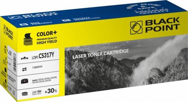 Black Point toner LCBPLCS317Y zastępuje Lexmark 71B20Y0, żółty
