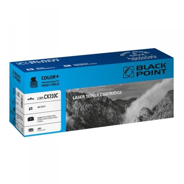 Black Point toner LCBPLCX310C zastępuje Lexmark 80C2SC0, niebieski