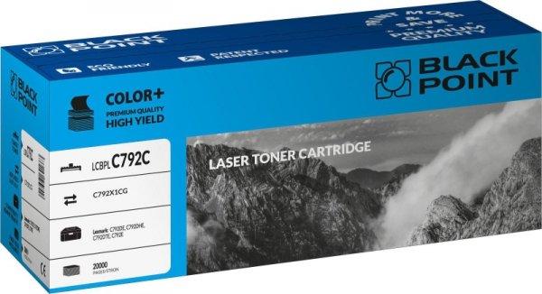 Black Point toner LCBPLC792C zastępuje Lexmark C792X1CG, niebieski