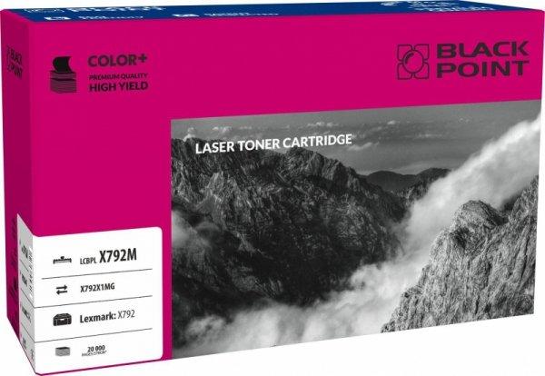 Black Point toner LCBPLX792M zastępuje Lexmark X792X1MG, czerwony