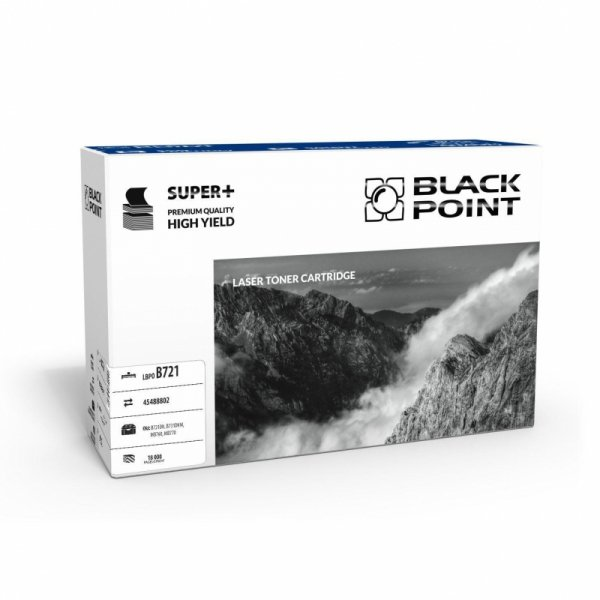 Black Point toner LBPO721 zastępuje Oki 45488802, 18000 stron