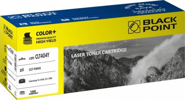 Black Point toner LCBPSCLT404Y zastępuje Samsung CLT-Y404S, żółty