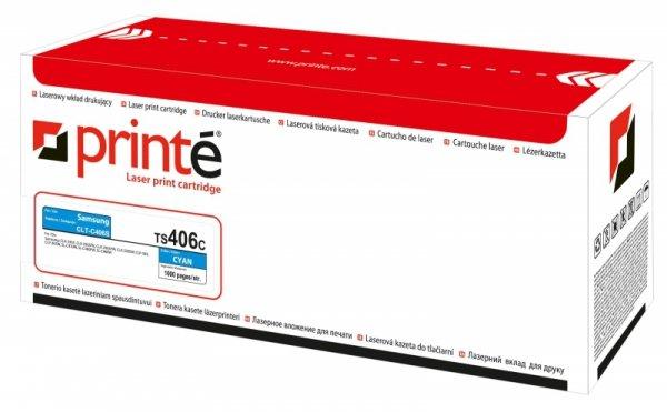 Toner laserowy Printe TS406C, zastępuje: Samsung CLT-C406S, 1000 str., cyan.