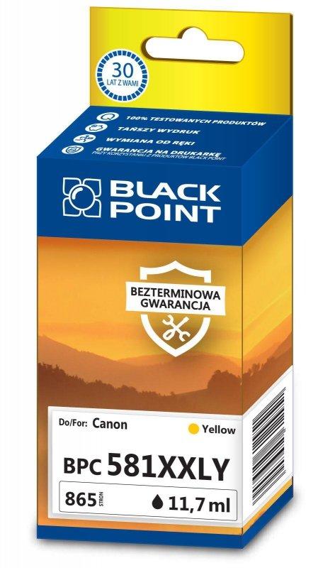 Black Point tusz BPC581XXLY zastępuje Canon CLI-581YXXL,Yellow