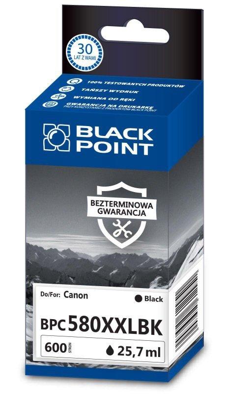 Black Point tusz BPC580XXLBK zastępuje Canon PGI-580PGBKXXL,czarny