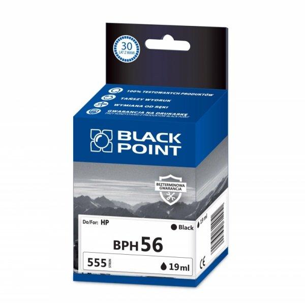 Black Point tusz BPH56 zastępuje HP C6656AE, czarny
