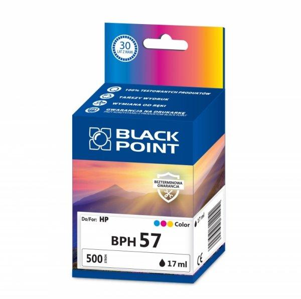 Black Point tusz BPH57 zastępuje HP C6657AE, trójkolorowy