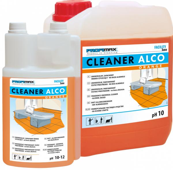 CLEANER ALCO ORANGE - uniwersalny zapachowy środek czyszczący na bazie alkoholu 1l