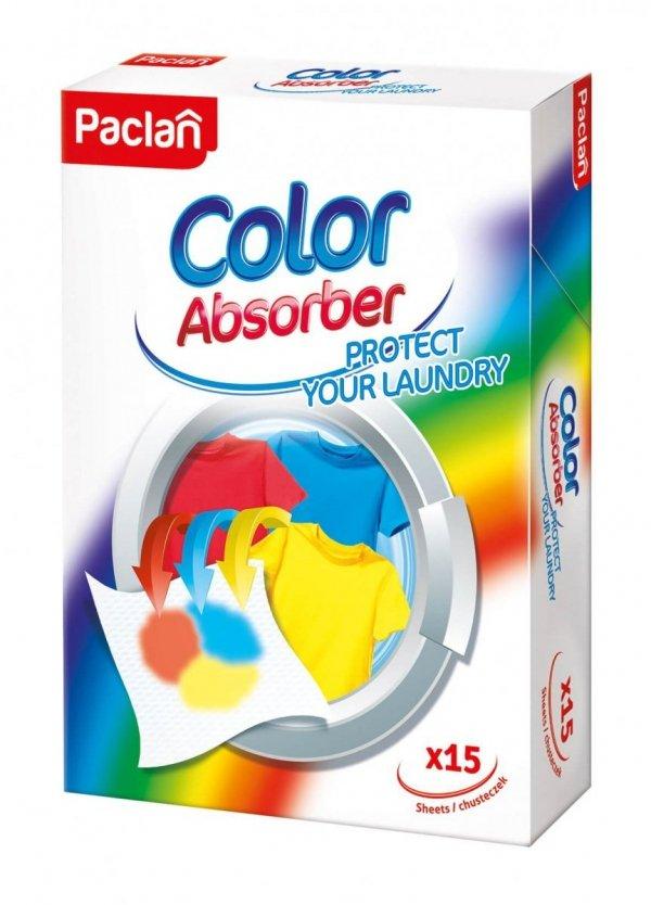 ŚCIERECZKI CHRONIĄCE KOLOROWE PRANIE  Color Absorber 15 SZT. Paclan