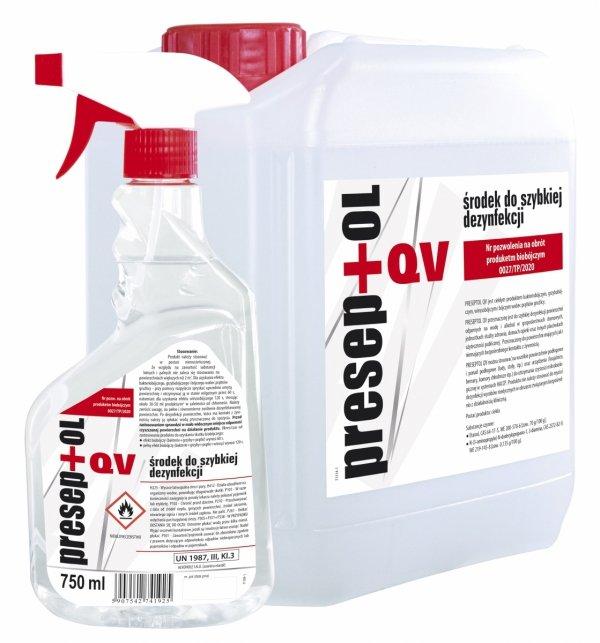 PRESEPTOL QV 750ml  - produkt biobójczy do szybkiej dezynfekcji powierzchni