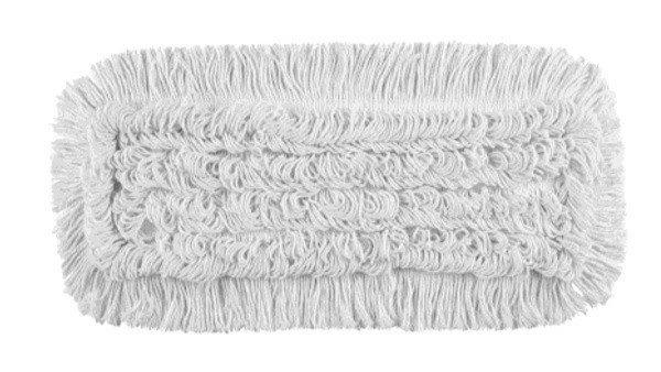 Mop Przesuw bawełna biała linia premium 40cm Pętelkowo – Cięty