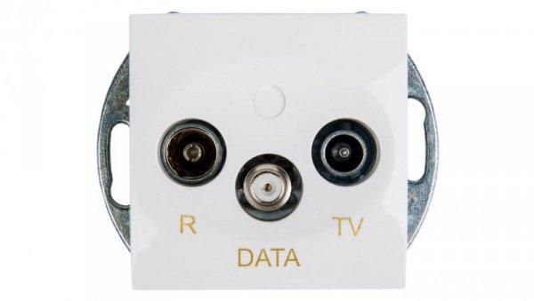 Simon 54 Gniazdo antenowe RD/TV/DATA białe DAD.01/11