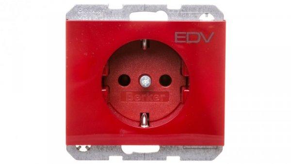 K.1/K.5 Gniazdo SCHUKO z nadrukiem 'EDV' czerwone 47157115