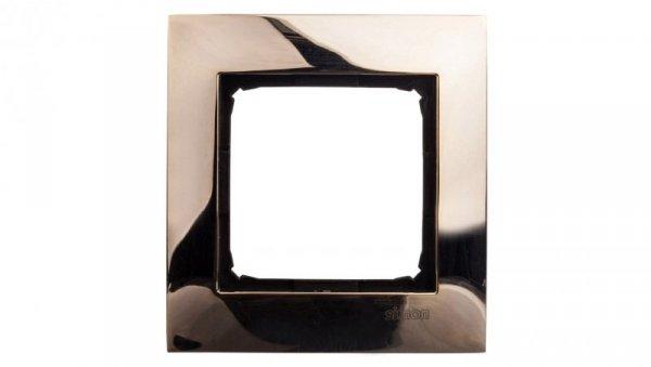 Simon 54 Premium Ramka pojedyncza metalowa złoto DR1/66