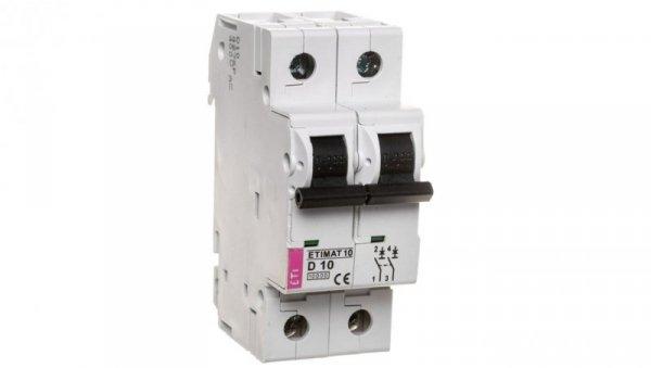 Wyłącznik nadprądowy 2P D 10A 10kA AC ETIMAT10 002153714
