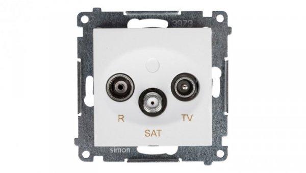 Simon 54 Gniazdo antenowe RD/TV/SAT przelotowe białe DASP.01/11