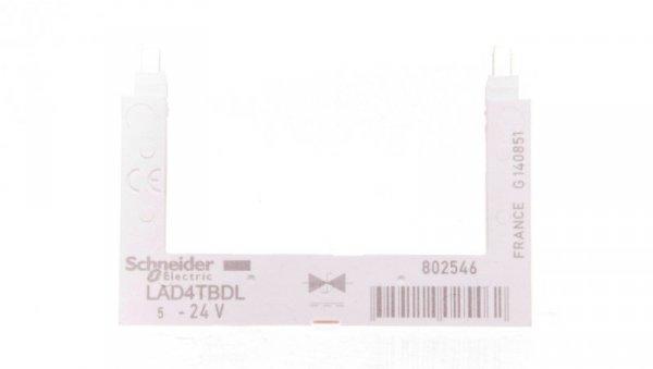 Układ ochronny dioda 24V DC do LC1D09A-D38 LAD4TBDL