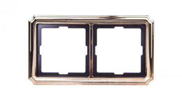 Merten Antique Ramka podwójna mosiądz polerowany MTN483221