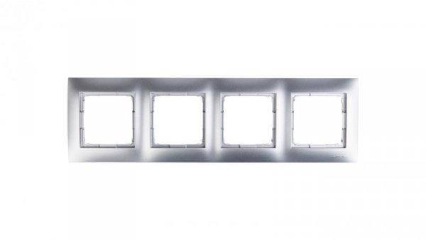 Simon 54 Premium Ramka poczwórna srebrny mat DR4/43