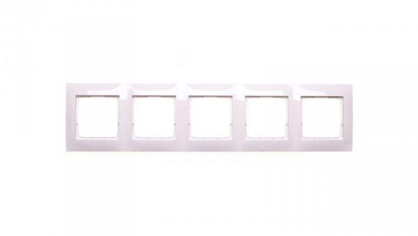 Simon 54 Premium Ramka pięciokrotna biała /do karton-gips/ DRK5/11