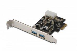 Digitus Karta rozszerzeń/Kontroler USB 3.0 PCI Express, 2xUSB 3.0, Low Profile, Chipset: UPD720202