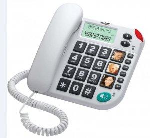 Maxcom KXT480 BB telefon przewodowy, biały
