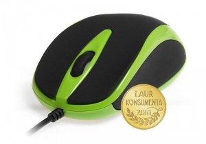 Media-Tech Mysz optyczna 800dpi czarno-zielona MT1091G