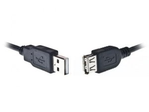 Gembird Przedluzacz USB 2.0 typu AM-AF 1.8m czarny