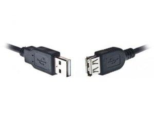 Gembird Przedluzacz USB 2.0 typu AM-AF 3m  czarny
