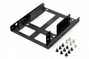 Digitus Ramka montażowa/Adapter SSD/HDD 2x 2.5 do 3.5 (ATA, SATA, SSD) metalowa ,zestaw, czarna