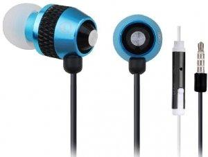 Gembird Słuchawki douszne z mikrofonem niebieskie